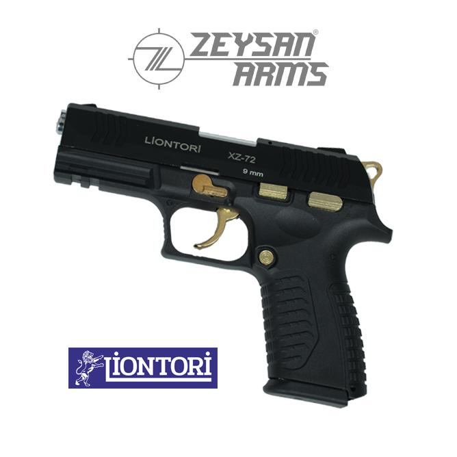 Liontori XZ-72 9mm Gold Black